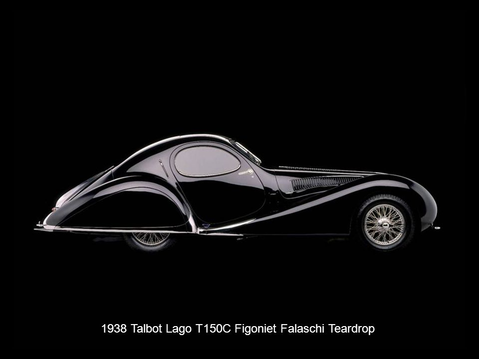 1938 Talbot Lago T150C Figoniet Falaschi Teardrop