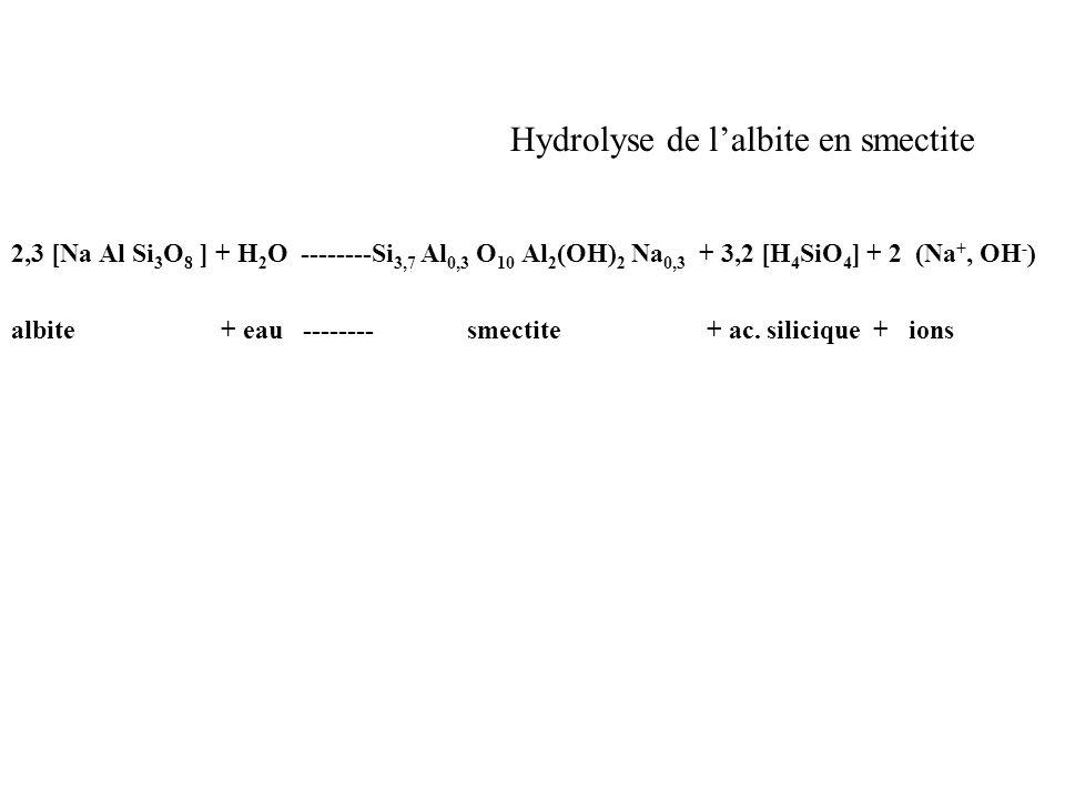 Hydrolyse de l'albite en smectite