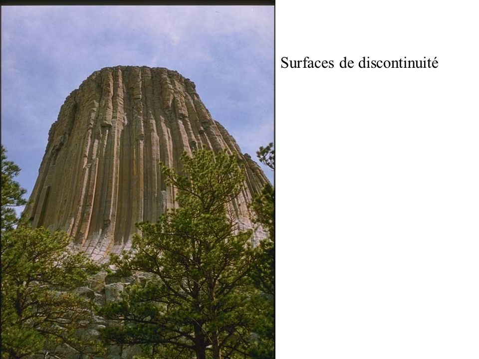 Surfaces de discontinuité