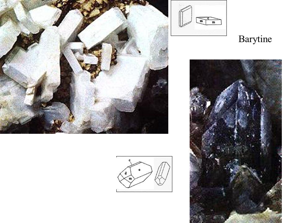 Barytine Deux habitus caractéristiques :