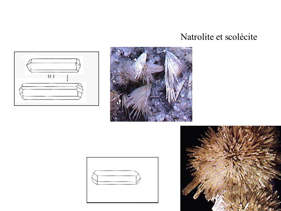 Natrolite et scolécite