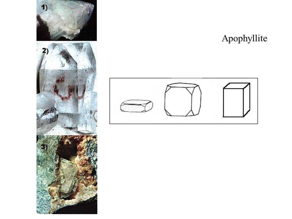 Apophyllite Silicate hydraté complexe calcaro-potassique.