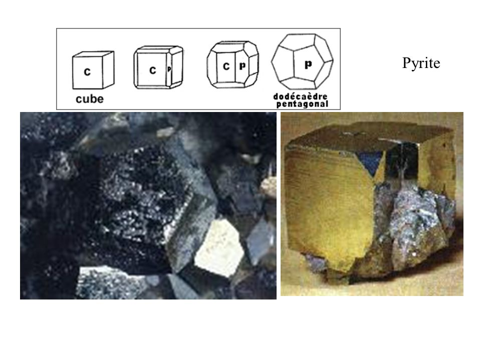 Pyrite Dodécaèdre pentagonal. Taille réelle 10 mm