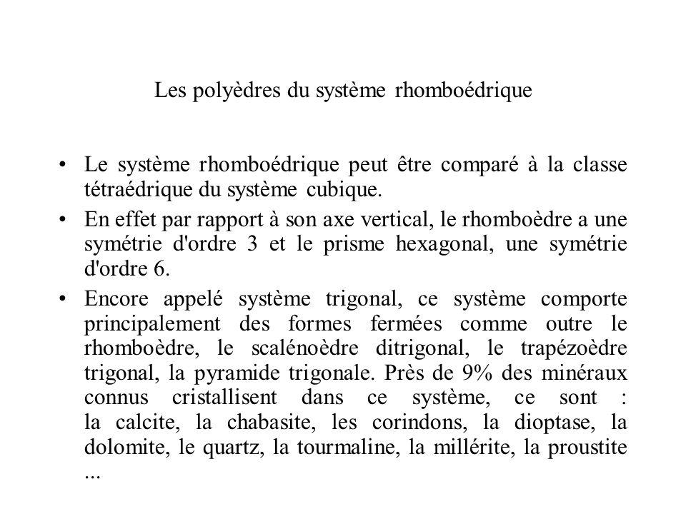 Les polyèdres du système rhomboédrique