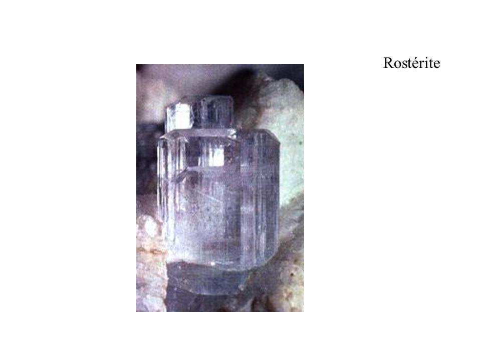 Rostérite Autre variété de béryl, rose pale. dimension du cristal 9 mm