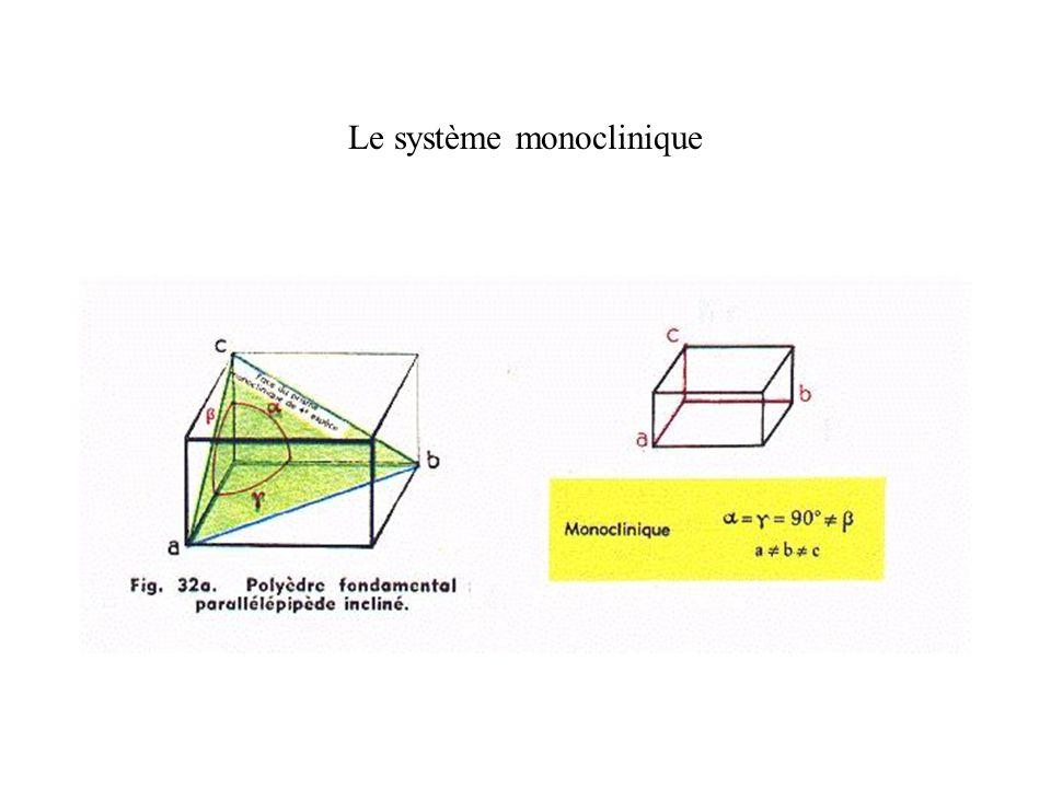 Le système monoclinique
