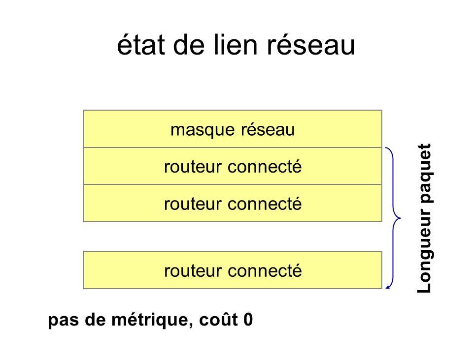 état de lien réseau masque réseau routeur connecté Longueur paquet