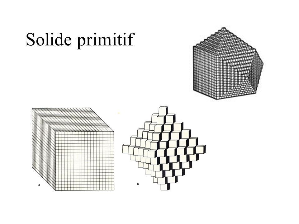 Solide primitif Tous les minéraux présentent un solide primitif qui, par empilement, permet de reconstruire toutes les formes minéralogiques.