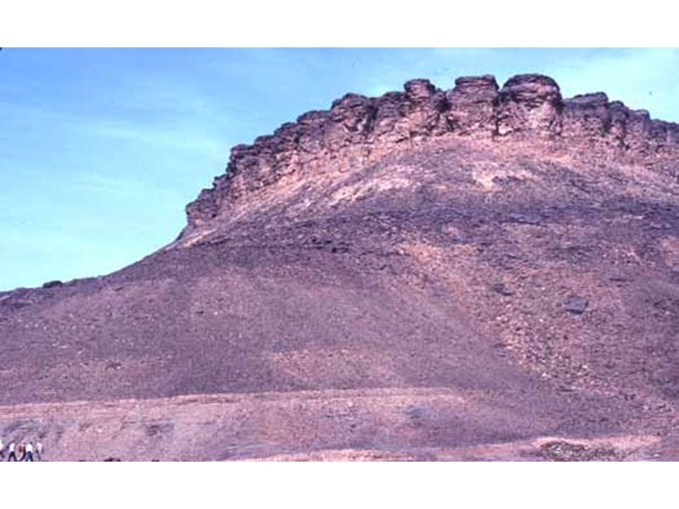 Mesa, corniche et talus en Mauritanie