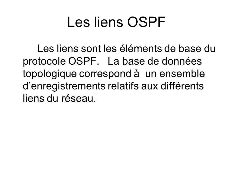Les liens OSPF