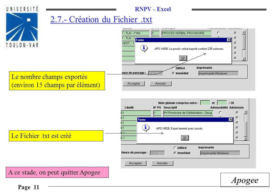 2.7.- Création du Fichier .txt