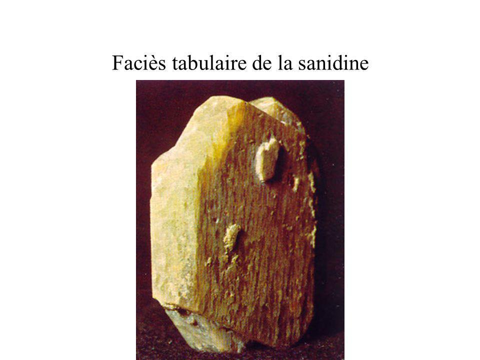 Faciès tabulaire de la sanidine