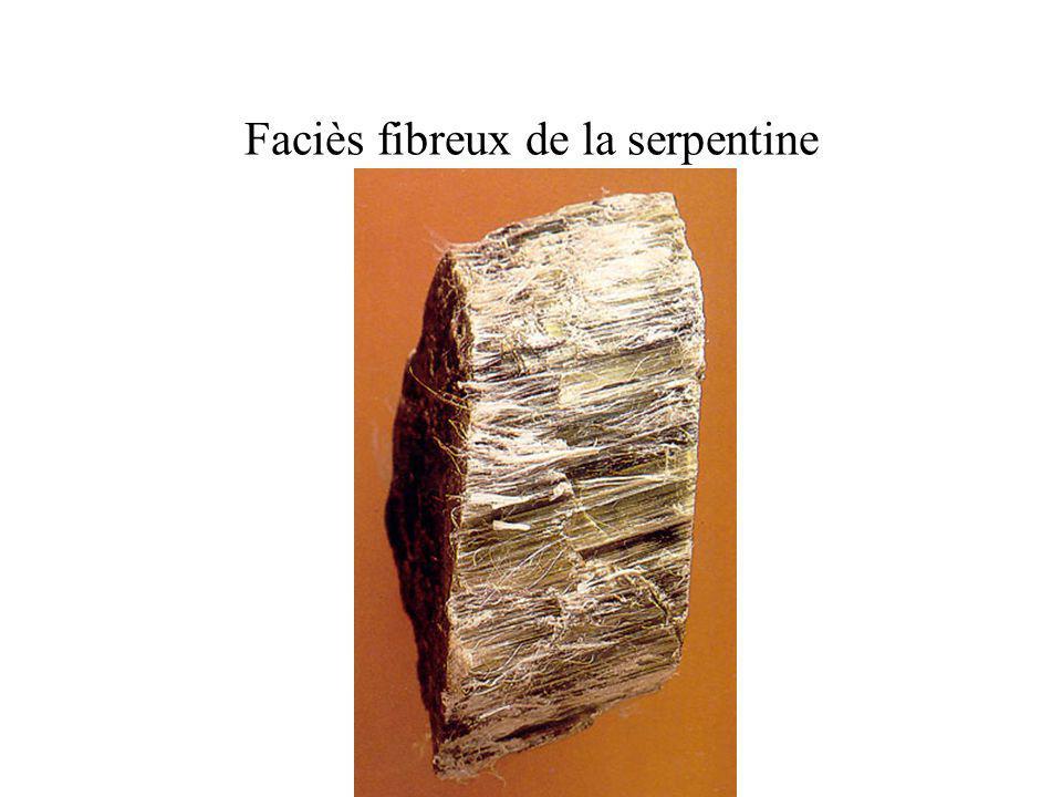 Faciès fibreux de la serpentine