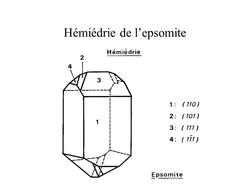 Hémiédrie de l'epsomite