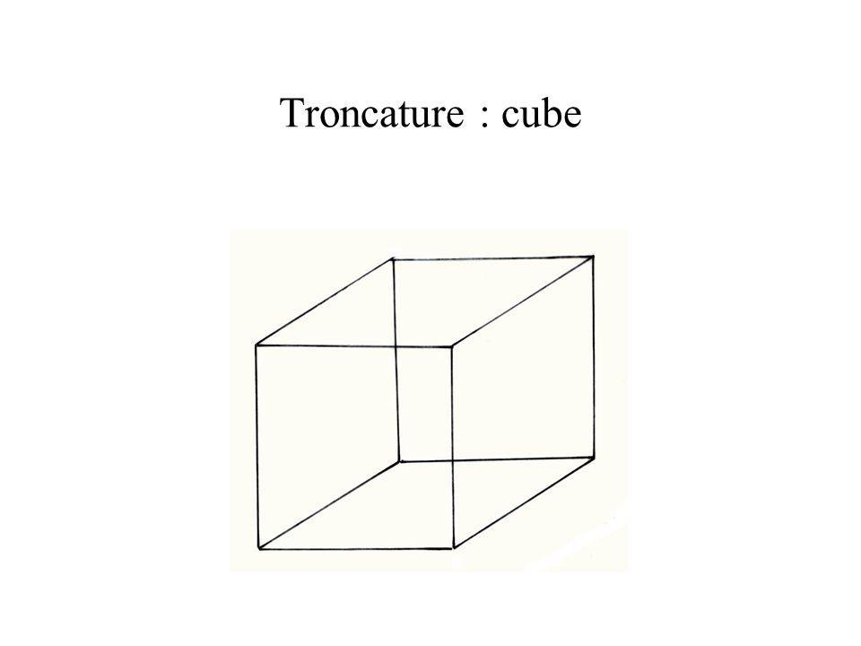 Troncature : cube Solide primitif du système cubique