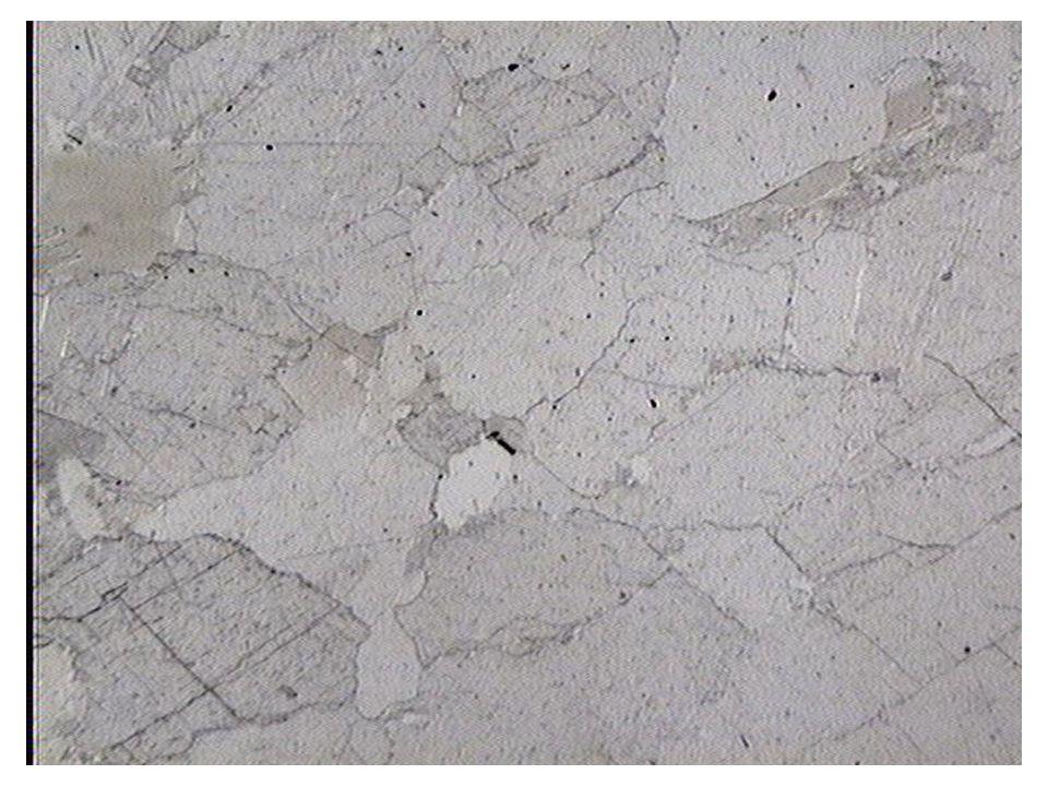 Pléiochroïsme de relief de la calcite