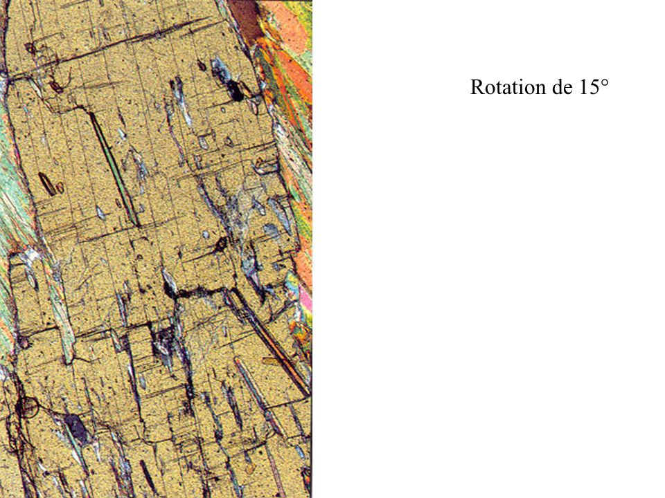 Rotation de 15°