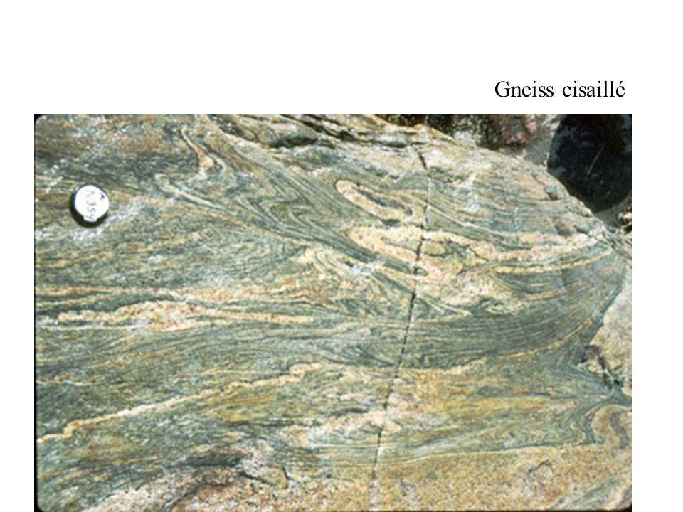 Gneiss cisaillé