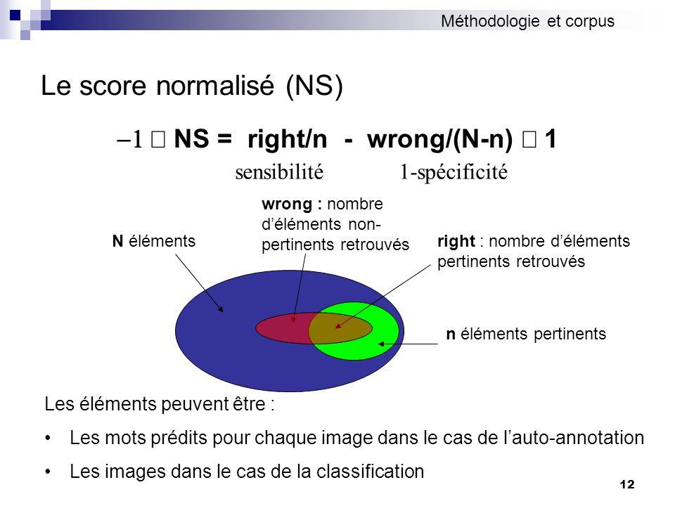 Le score normalisé (NS)