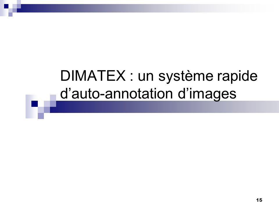 DIMATEX : un système rapide d'auto-annotation d'images
