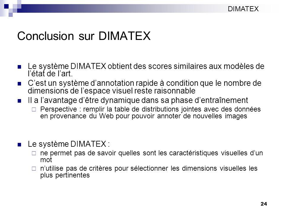 Conclusion sur DIMATEX