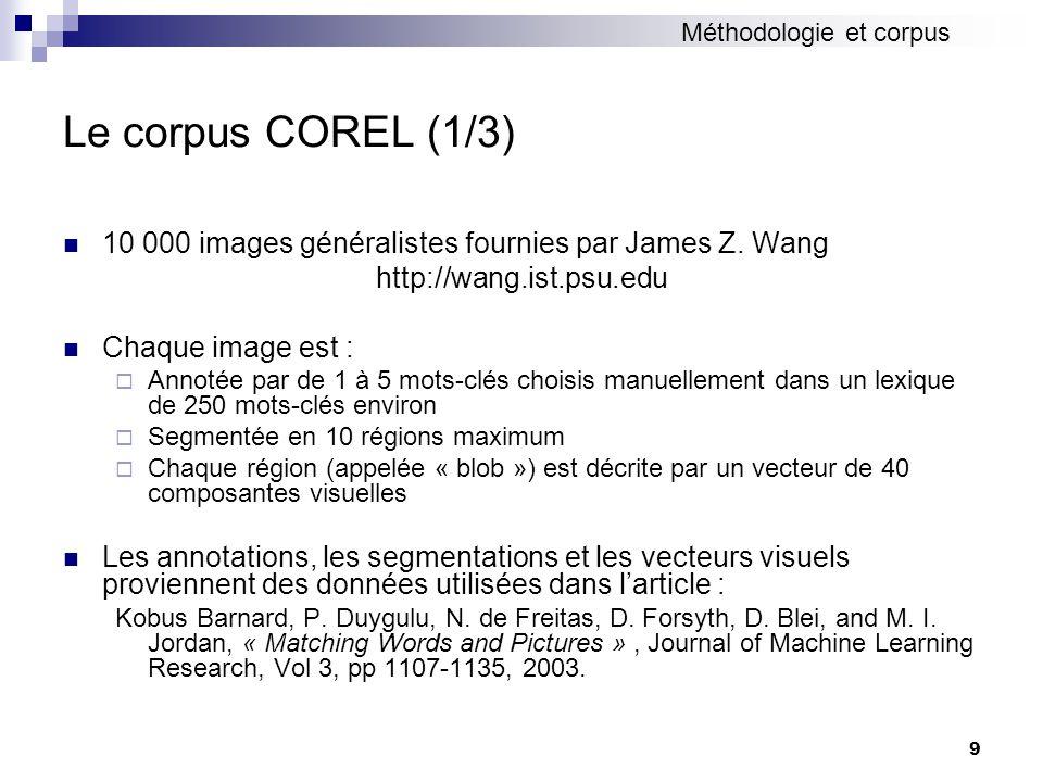 Méthodologie et corpus