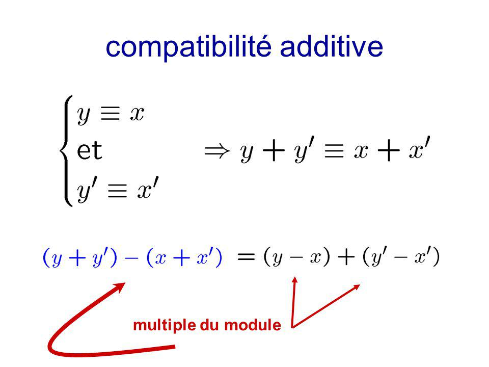 compatibilité additive