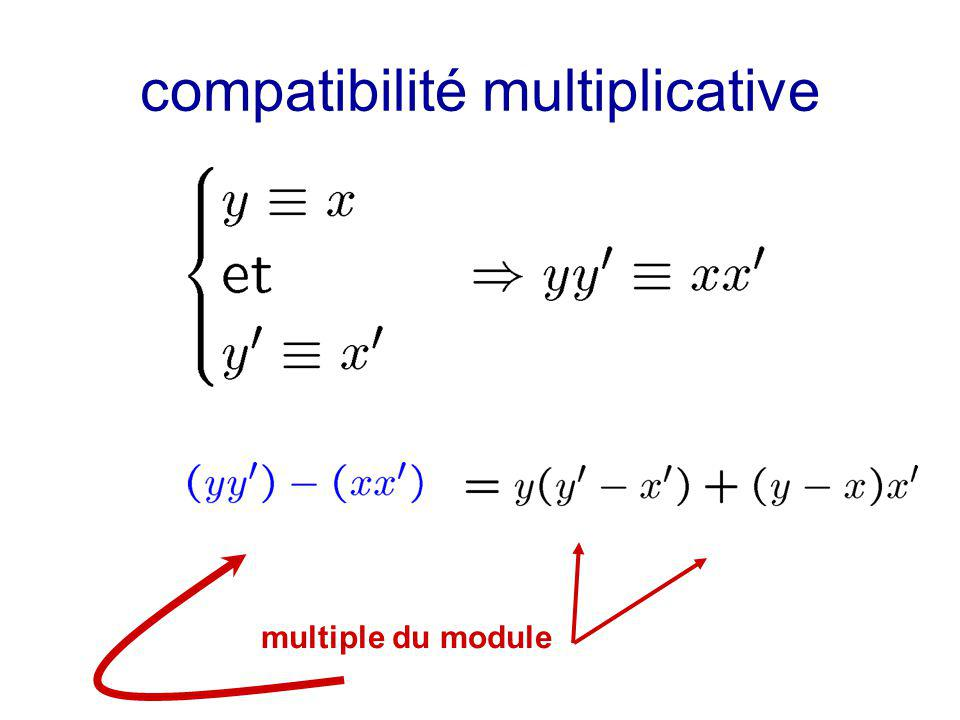 compatibilité multiplicative