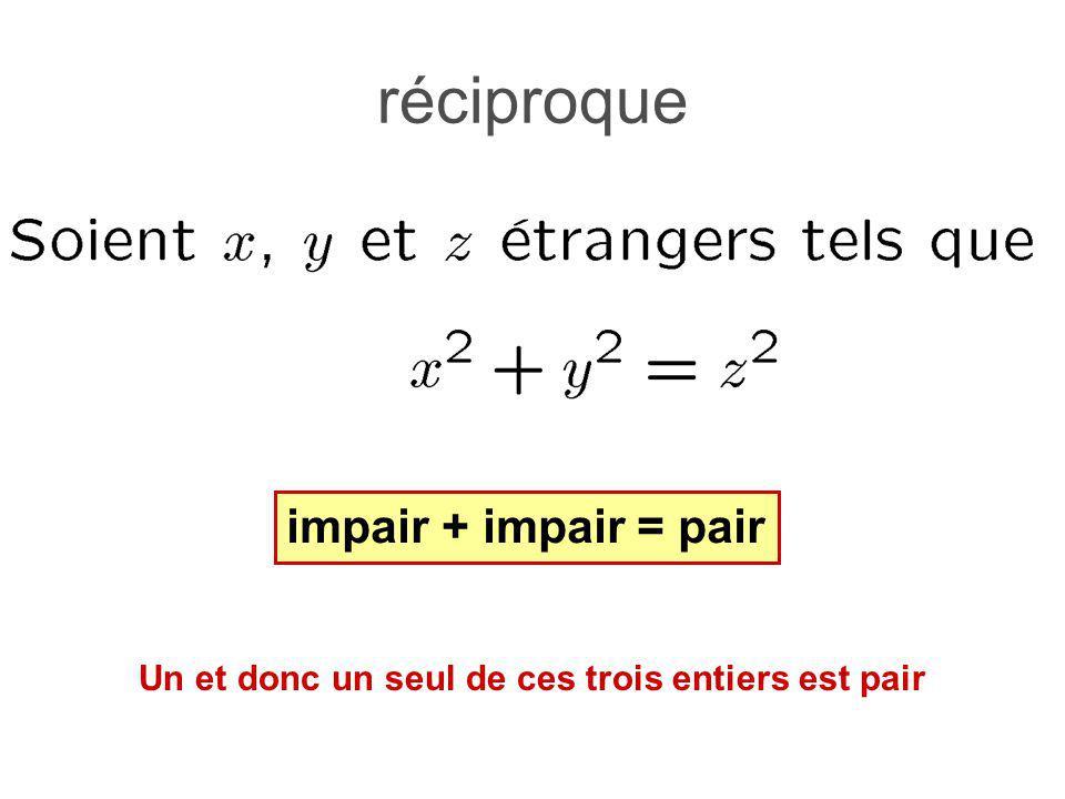 réciproque impair + impair = pair