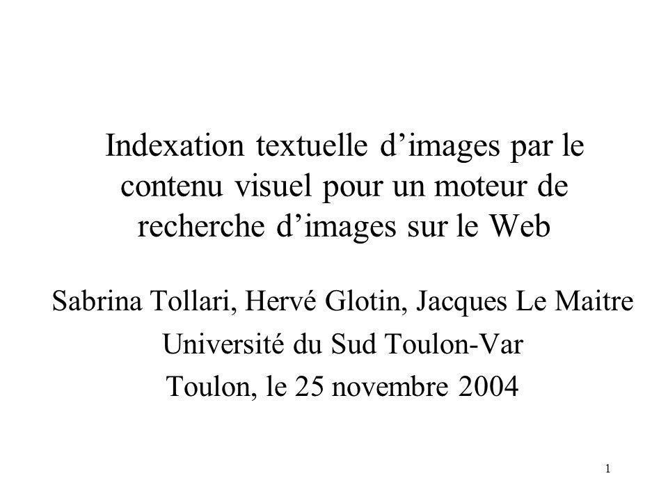 Indexation textuelle d'images par le contenu visuel pour un moteur de recherche d'images sur le Web