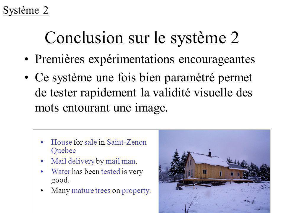 Conclusion sur le système 2