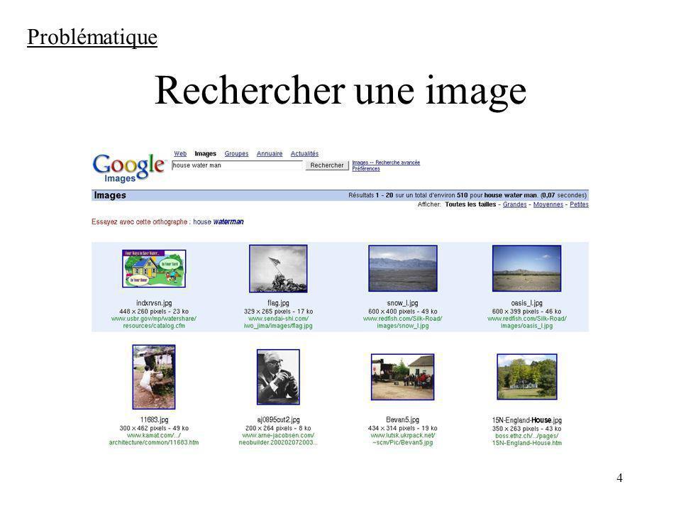 Problématique Rechercher une image
