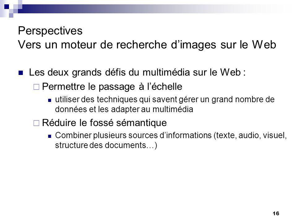 Perspectives Vers un moteur de recherche d'images sur le Web