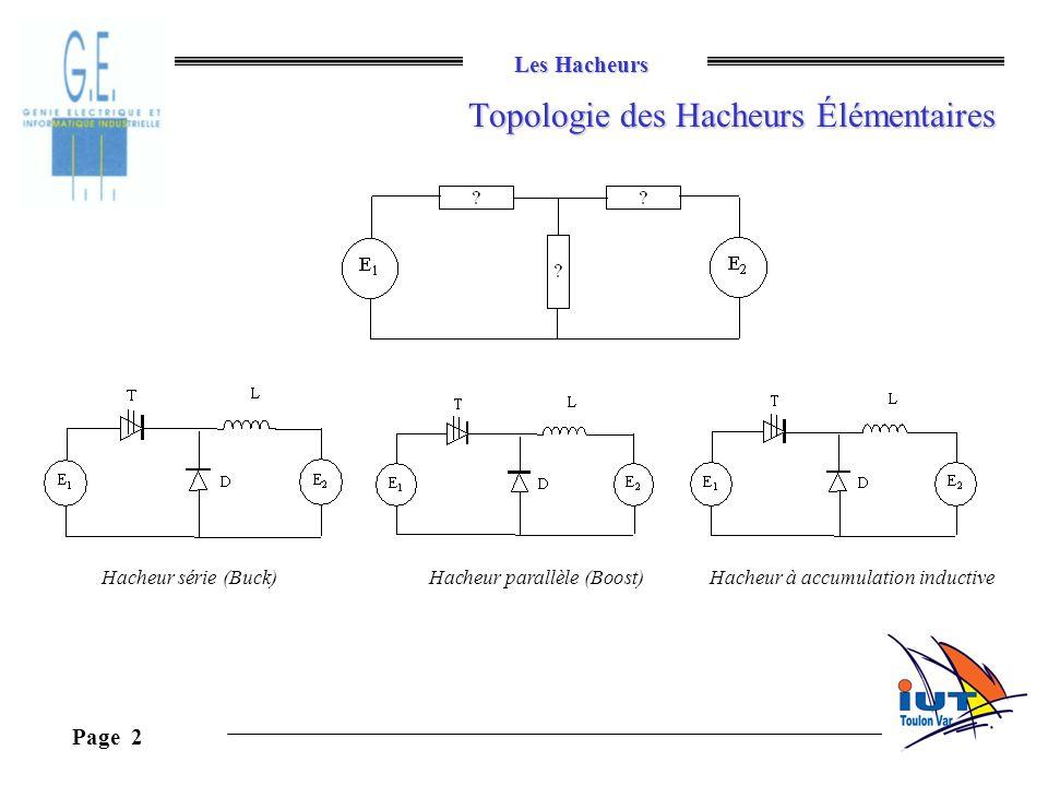 Topologie des Hacheurs Élémentaires