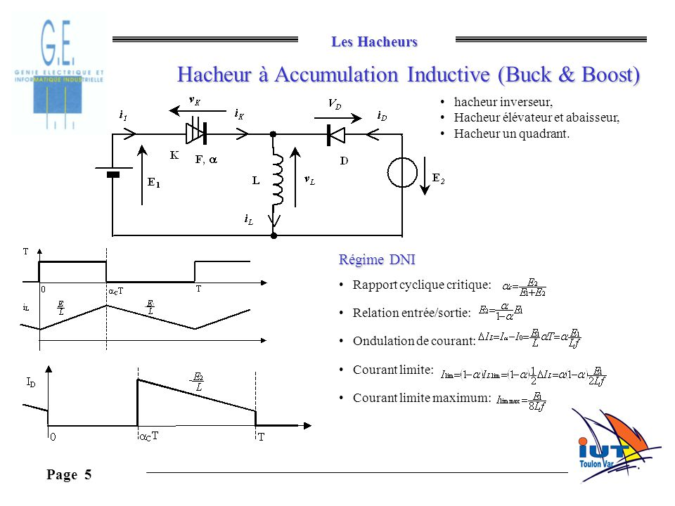 Hacheur à Accumulation Inductive (Buck & Boost)