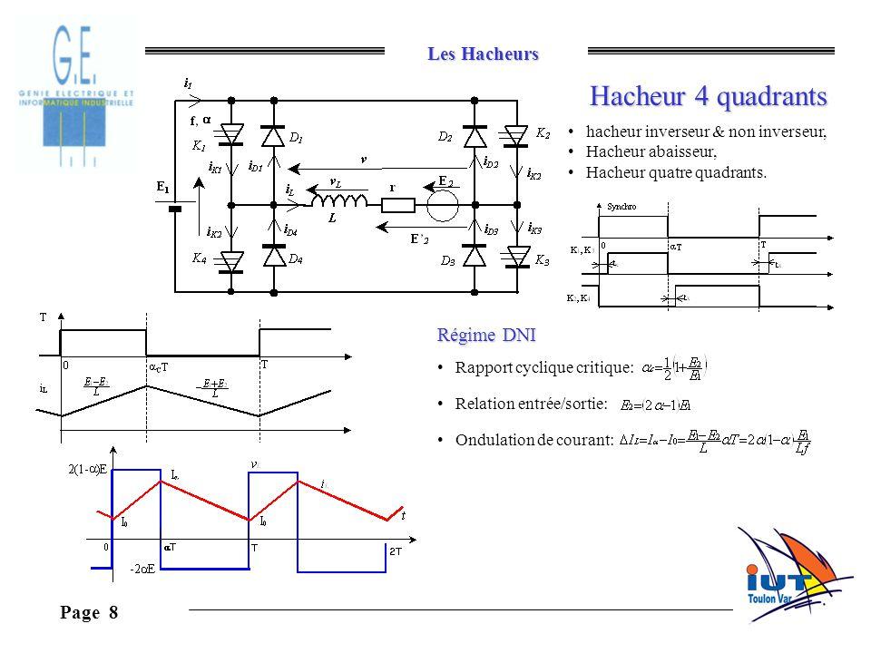 Hacheur 4 quadrants Régime DNI hacheur inverseur & non inverseur,