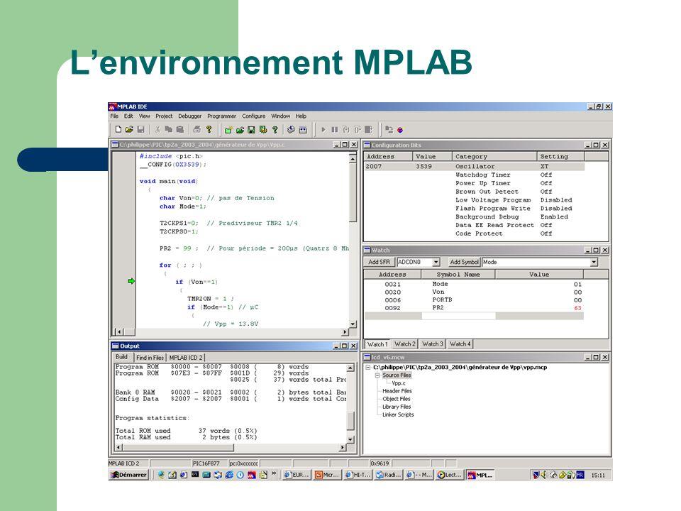 L'environnement MPLAB