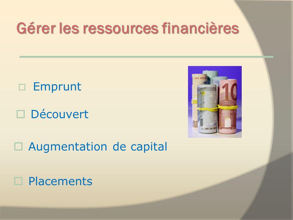 Gérer les ressources financières