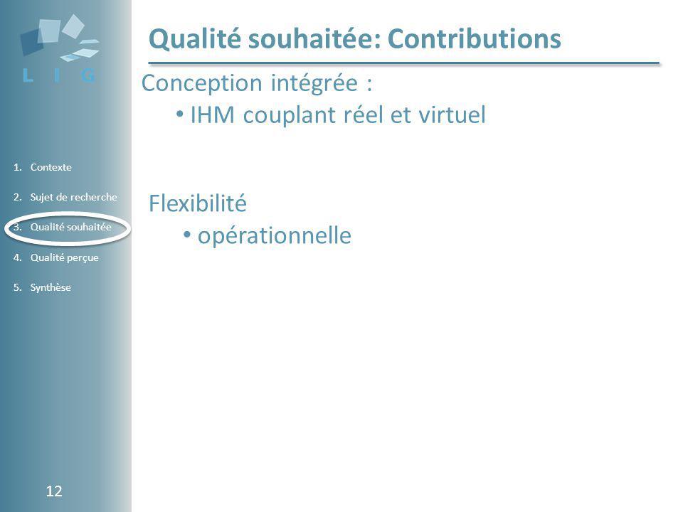 Qualité souhaitée: Contributions