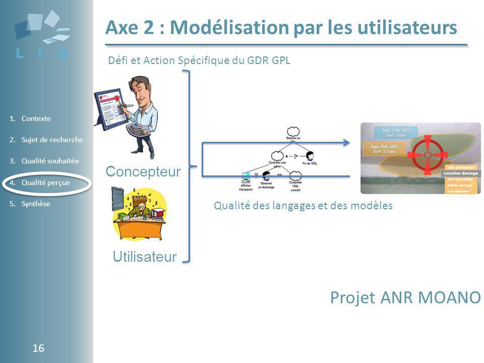 Axe 2 : Modélisation par les utilisateurs