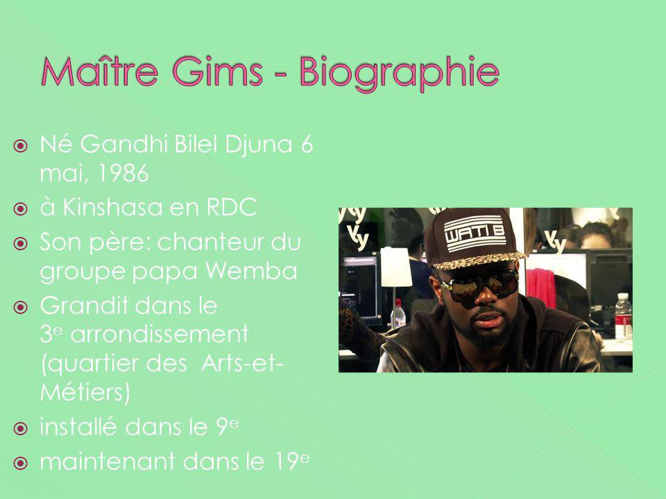 Maître Gims - Biographie