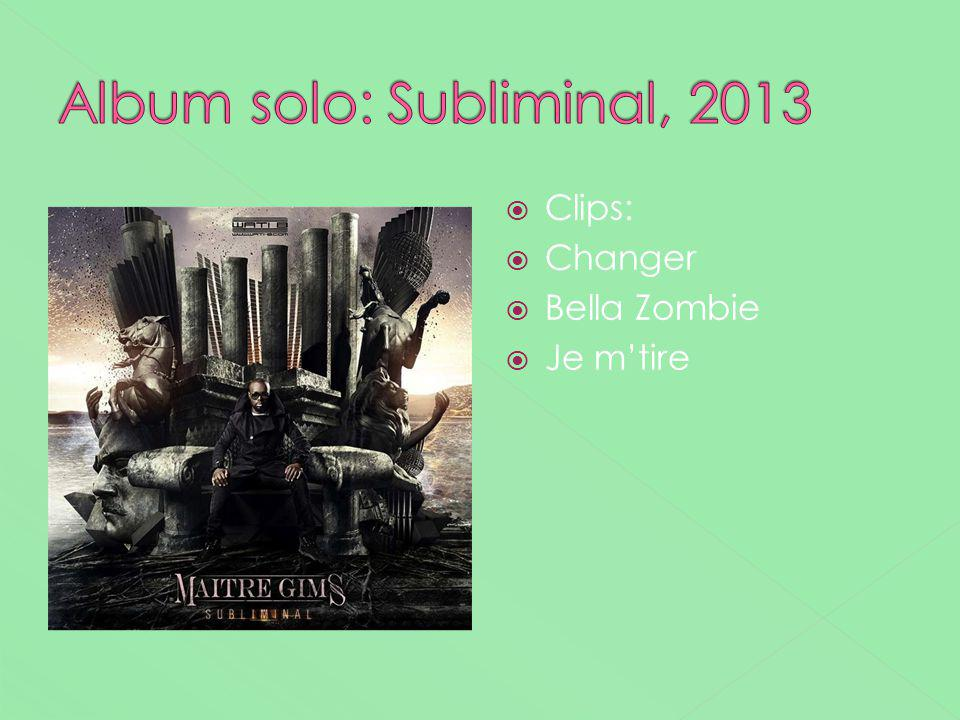 Album solo: Subliminal, 2013