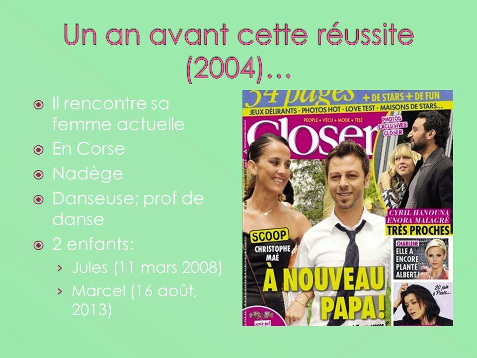 Un an avant cette réussite (2004)…