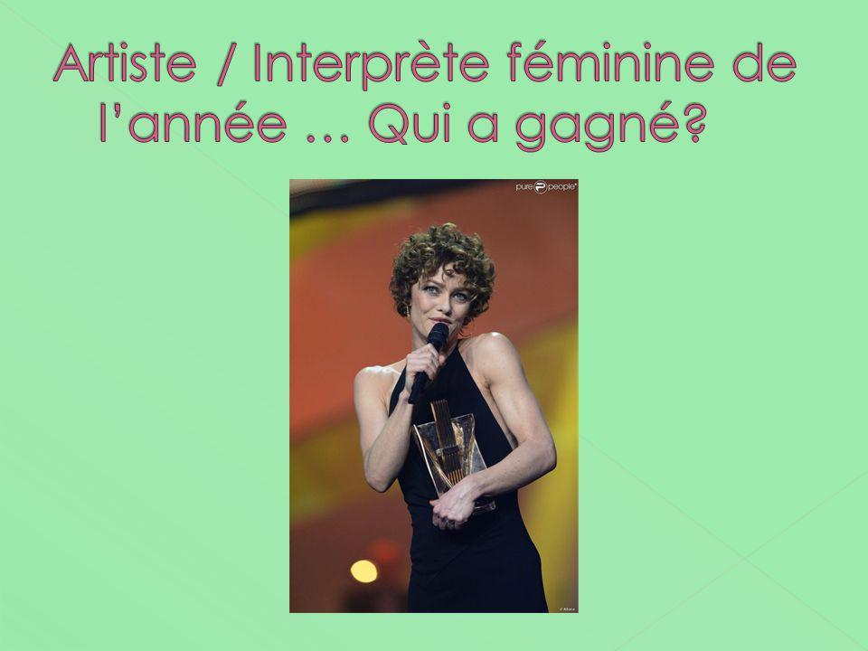 Artiste / Interprète féminine de l'année … Qui a gagné