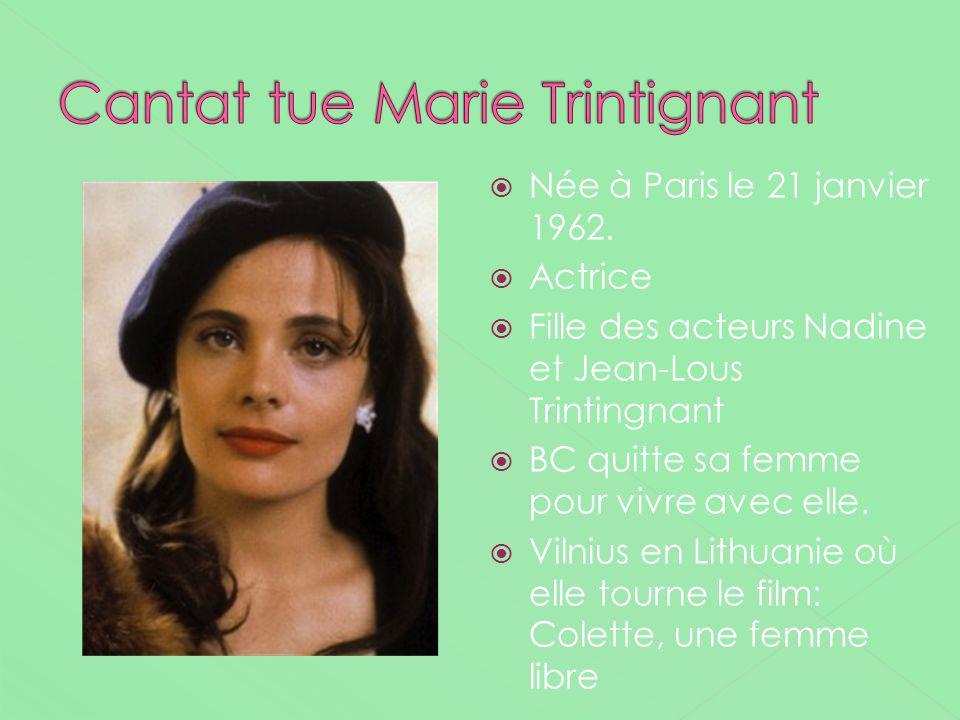 Cantat tue Marie Trintignant