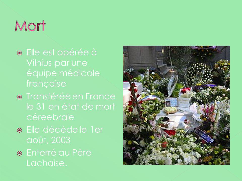 Mort Elle est opérée à Vilnius par une équipe médicale française