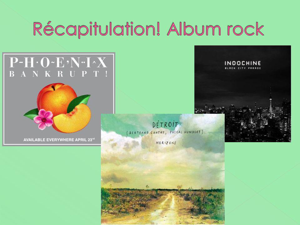 Récapitulation! Album rock