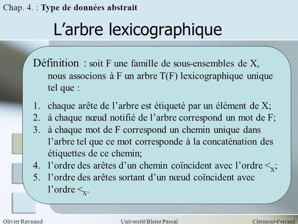L'arbre lexicographique