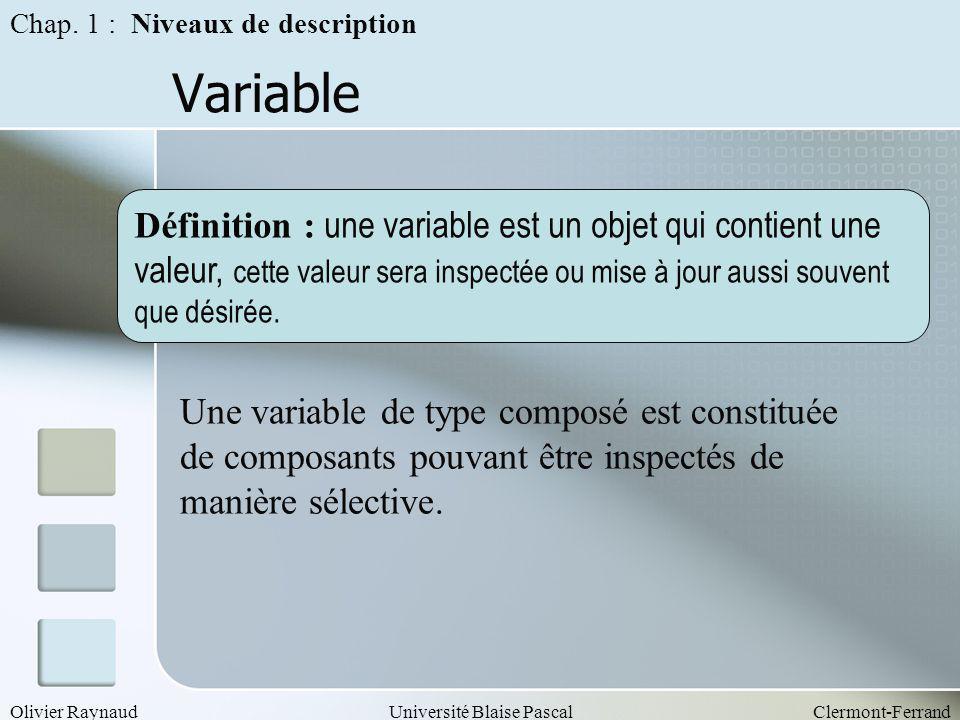 Chap. 1 : Niveaux de description