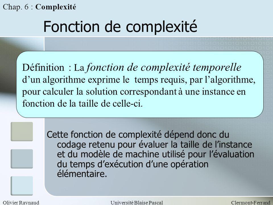 Fonction de complexité